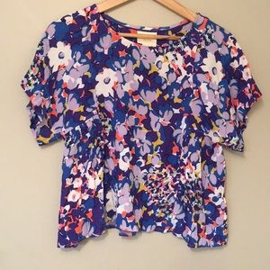 Multicolored short sleeve top